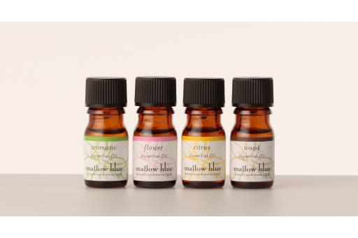 〈マロウブルー〉4つの香りエッセンシャルオイルブレンド