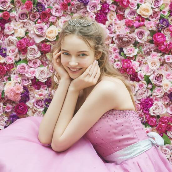 【サマンサティアラ】ユリの花をイメージしたブライダルリング